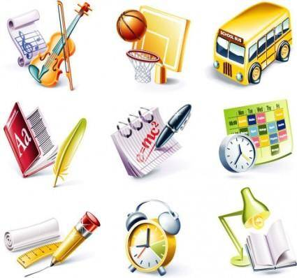 Campus theme icon vector
