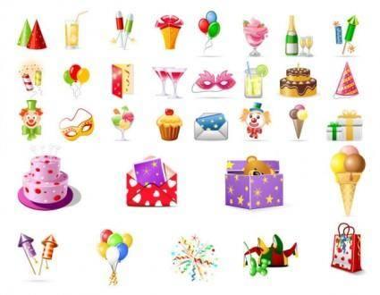 free vector Birthday theme icon vector
