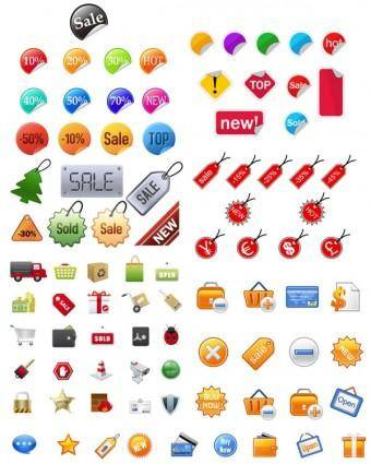 Icon go shopping articles vector