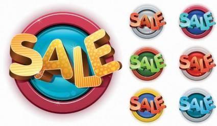 free vector Threedimensional icon vector sales nonoriginal works