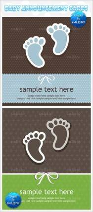 Feet labels vector