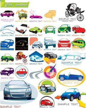 free vector Some graphics on the car icon vector
