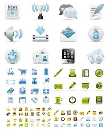 3 sets of utility icon vector