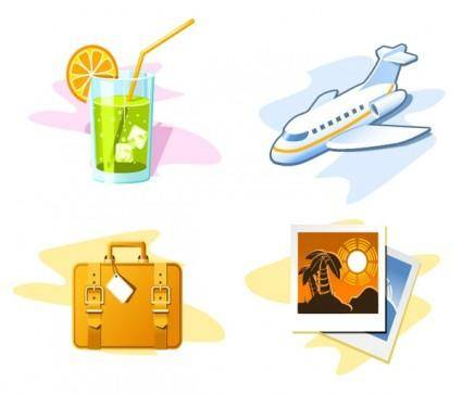 Travel theme icon vector 19367