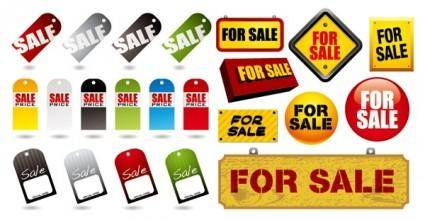 free vector Sales label and icon vector