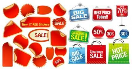 free vector 2 sets of icon vector sales