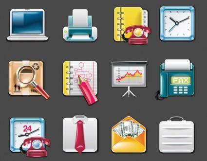 free vector Vector office supplies icon