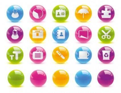 free vector Texture of the crystal ball button icon vector