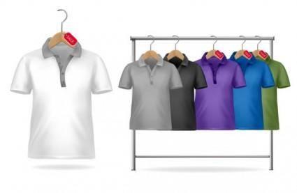 Shortsleeve tshirt template 01 vector