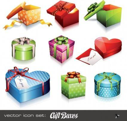 free vector Holiday gift icon vector