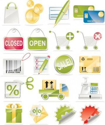 Sale of a shopping icon vector