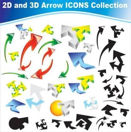 free vector Dynamic arrow icon vector