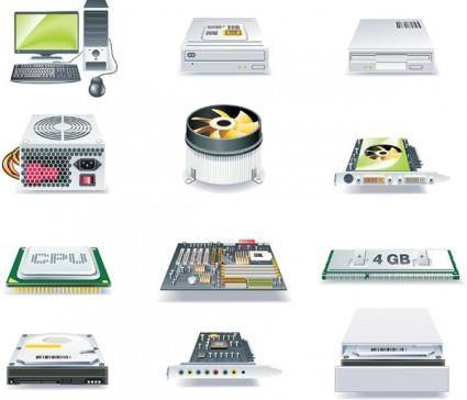 Computer and accessories icon vector
