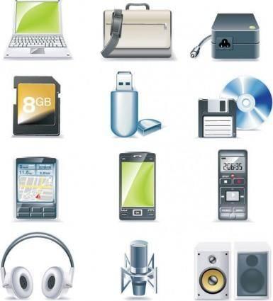 free vector Digital equipment icon vector