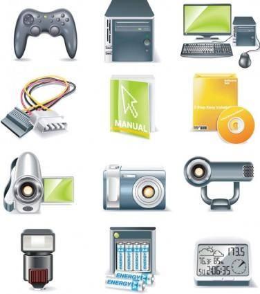 free vector Digital equipment icon vector 2