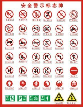 free vector Warning signs vector