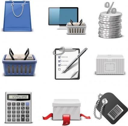 free vector Shopping theme icon vector
