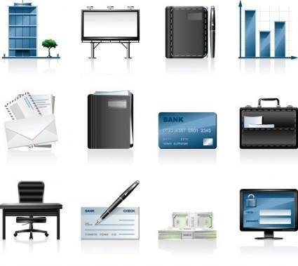 Commercial and financial icon vector