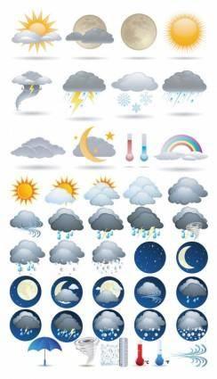 free vector Weather icon vector