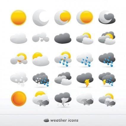 free vector Fine weather icon 01 vector
