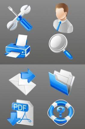 free vector Blue practical business icon vector