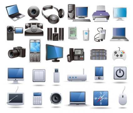 Digital technology products icon vector