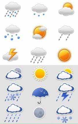 Icon daquan weather articles vector