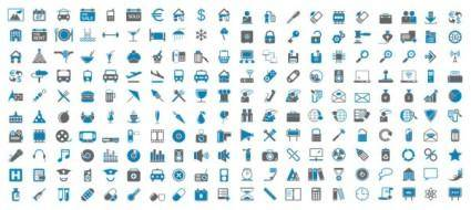 Bluegray simple icon vector