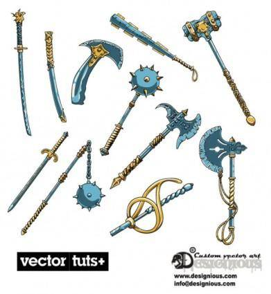 Fine game weapon set vector
