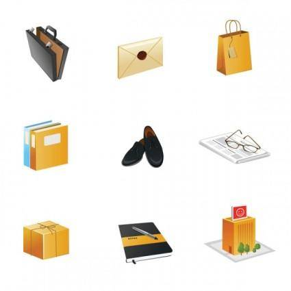 Office theme icon vector