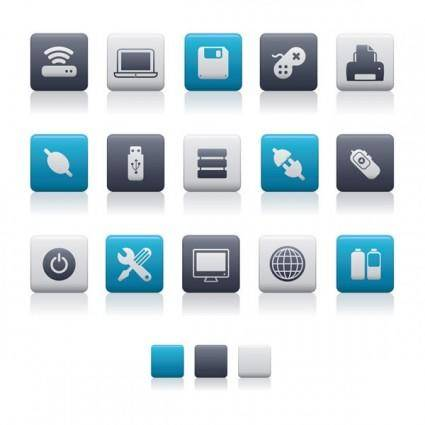 free vector Bluegray theme icon vector