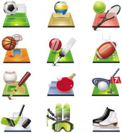 Sportsrelated icons 04 vector