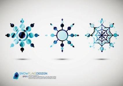 Snow style icon 01 vector