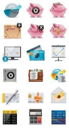 Exquisite icons vector