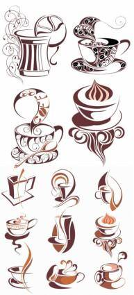 Coffee icon vector 19476