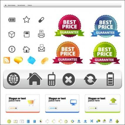 free vector Site layout and icons vector