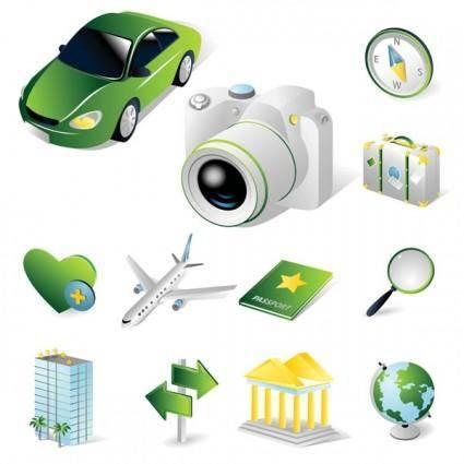 Tourist theme icon vector