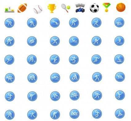free vector Icon go sports articles vector