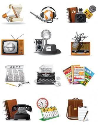 free vector 1960 reporters theme icon vector