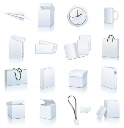 free vector Blank goods icon vector
