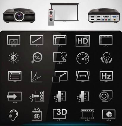 Technology icon 02 vector