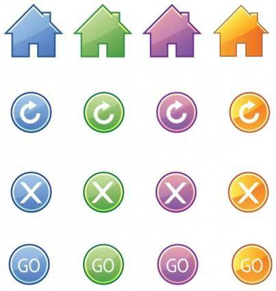 free vector Beautiful icon button vector