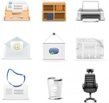 free vector Office icon vector
