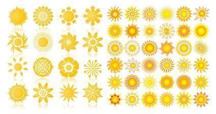 free vector The sun vector graphics icon