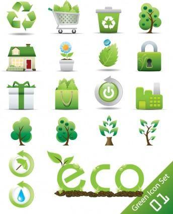 Green icon 01 vector