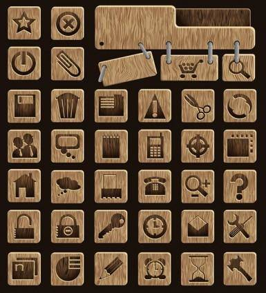 Wood icon vector