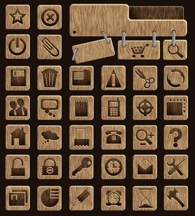 free vector Wood icon vector