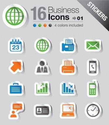free vector Simple and practical icon 01 vector