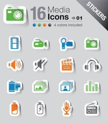 free vector Simple and practical icon 04 vector