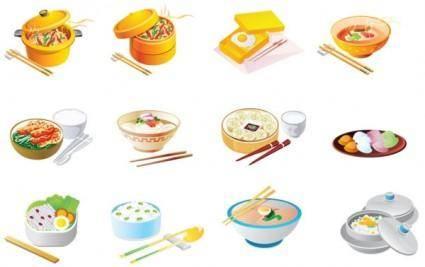 free vector Cartoon food icon vector